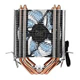 Omiky® CPU-Kühler,PC Computer CPU Kühler Aluminium Kühlkörper Lüfterkühler Intel & AMD (Schwarz)