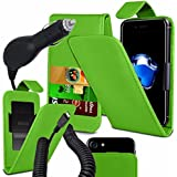 Archos 55B Platinum - Fall Super-Essentials Pack Clamp Frühlings-Art PU-Leder-Mappe + auto Charger - Green