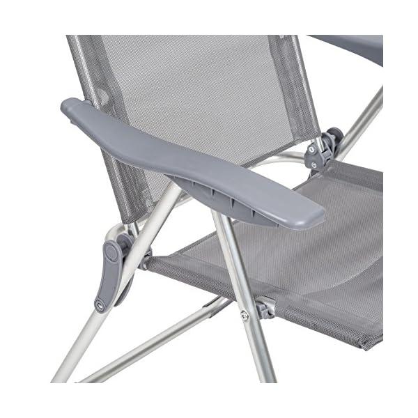 Tavolo Richiudibile Con Sedie Incorporate.Tectake Set Di 4 Alluminio Sedie Da Giardino Pieghevole Con