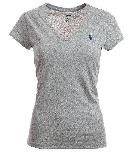 Ralph Lauren Polo Damen V Neck Shirt T-Shirt Grau Größe XS (Ralph Lauren Polo Xs)