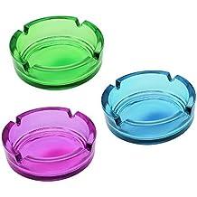 COM de Four® 3x Cristal cenicero, cenicero de cristal en fresco Colores Diferentes
