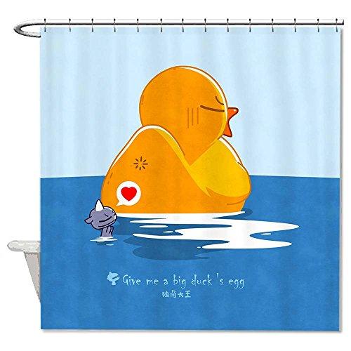 rioengnakg resistente alla muffa tessuto Give Me Un grande uovo di anatra Tenda Doccia Poliestere Impermeabile Tenda doccia, Poliestere, #1, 66