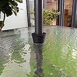 Pied de parasol conique Do4U pour table de patio - Convient aux tables avec un trou Noir