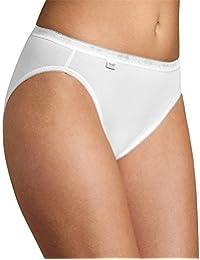 6er Pack Sloggi Damen Tai-Slip - Serie 24/7 Cotton 2+1 -Farbe Weiß, Schwarz - Gr. 38 bis 48 - Damenslips aus Baumwolle + Elasthan - UNWAGO Set