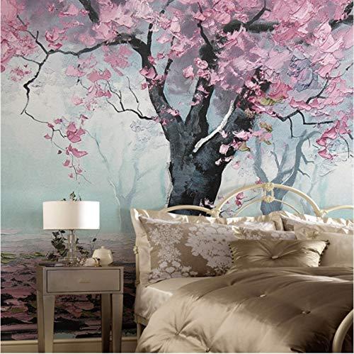 Mkkwp Benutzerdefinierte Moderne 3D Hochwertige Vliestapete Mural Romantik Baum Ölgemälde Studie...