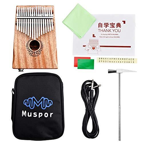 MASII 17 Tone EQ E-Box Mahagoni Thumb Piano Kalimba Finger Piano Mit Package + Line -