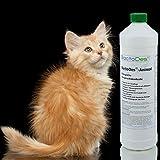 BactoDes Animal -1 Liter Geruchsentferner, Geruchskiller-Konzentrat zum Verdünnen (mind. 2L Gebrauchslösung) – inkl. Mischflasche – beseitigt Tieruringeruch, Katzenuringeruch, Tiergeruch, Katzenurin, Hundeurin, Kleintiergeruch, dauerhaft – ein echter Geruchsvernichter für die dauerhafte Geruchsbeseitigung - 4