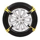 DANG&SHGOP Auto-Reifen-Ketten Universal Schneeketten Anti Skid Nail Auto Snow Tire Ketten Fit für die meisten Auto Truck TPU + Legierung(6.50-10.43in, 4 Stück)
