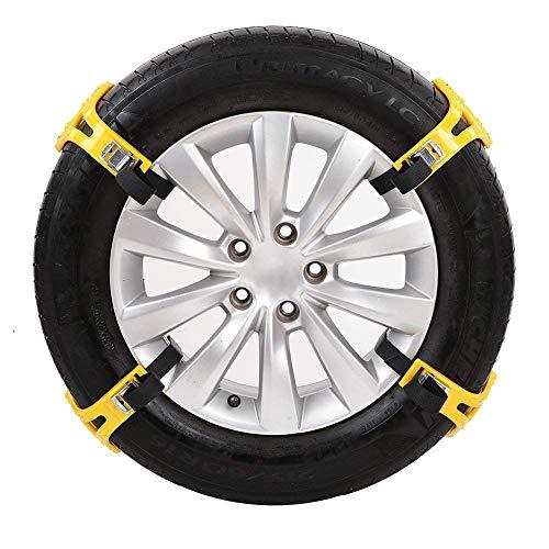 L&Z Auto-Reifen-Ketten Universal Schneeketten Anti Skid Nail Auto Snow Tire Ketten Fit für die...