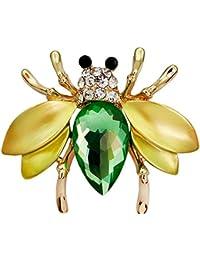 3e984b17af30 Hosaire Broches de pequeña abeja linda Broches y prendedores Retro Pin  Ramillete Acero Inoxidable para el