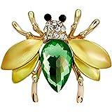 Hosaire Broche Epingle de Femme élégant Petite abeille de forme brillance cristal Bijoux Fantaisie corsage et pin brooch de décoration pour vêtements Cadeau