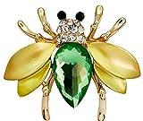 Hosaire Broches de pequeña abeja linda Broches y prendedores Retro Pin Ramillete Acero Inoxidable para el Banquete de Boda del Cristal