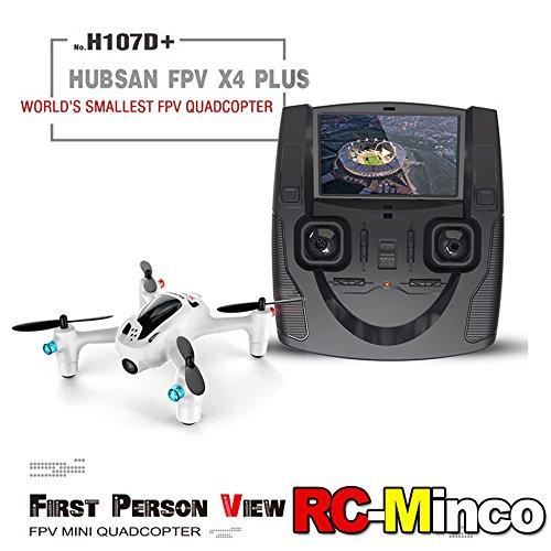Ollivan® Hubsan X4 Plus H107D + Aktualisierte Version FPV Quadcopter 2.4GHz + 5.8GHz 6-Achsen 720P Kamera mit 4 LED Leuchten Nacht RTF Video Übertragung(Hubsan H107D+)