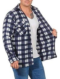 Camisa térmica para Hombre Chaqueta de leñador a Cuadros Chaqueta de Trabajo Chaqueta de Franela Chaqueta