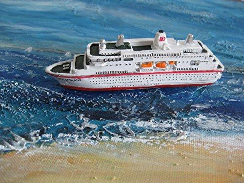 Schiffsmodell MS Deutschland Miniatur Boot Schiff ca. 12 cm Kreuzfahrtschiff