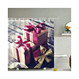 Gnzoe Polyester Rideaux de Douche Coffret cadeau-165x180CM~YL14178