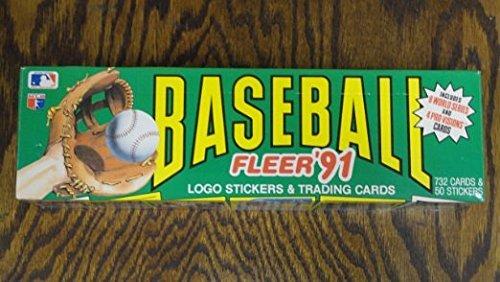 Fleer 91 Baseball Logo Stickers And Trading Cards Box Set