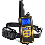 Iduola Dog Training Collar, 860 Yards Small Medium Large Pet Training Dog Collars with Remote, Waterproof Rechargeable with Beep/Vibration/Electric Shock Bark Collar [2018 Upgraded Version]