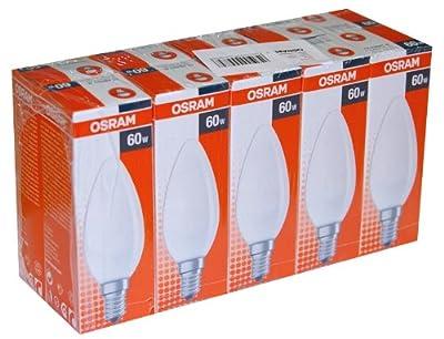 10 x OSRAM Glühlampe Glühbirne Kerze 60W 60 Watt E14 MATT Glühbirnen Glühlampen von Osram bei Lampenhans.de