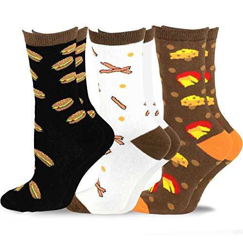 TeeHee-Womens-Foods-Crew-Socks-3-Pack