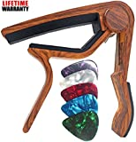 Best Acoustic Guitar Capos - WINGO Wooden Guitar Capo Quick Change for 6-String Review