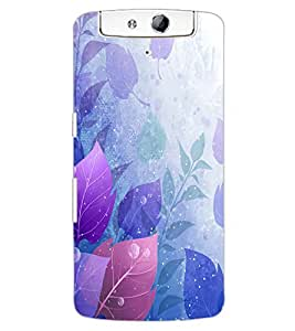 ColourCraft Beautiful Leafs Design Back Case Cover for OPPO N1