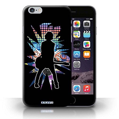KOBALT® Hülle Case für iPhone 6+/Plus 5.5 | Windmill Schwarz Entwurf | Rock Star Pose Kollektion Gefühl/Emotion Schwarz