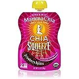 Mamma Chia - Plátano orgánico de la fresa del bocado de la vitalidad del apretón de Chia - 3,5 oz.