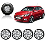 #5: Auto Pearl - Premium Quality Car Full Wheel Cover Caps Silver and Black 14 Inches For - Hyundai I20 Elite