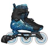 Powerslide Vi Fothon II Fitness Inline Skates LEDs 3 Wheeler schwarz-blau, 43