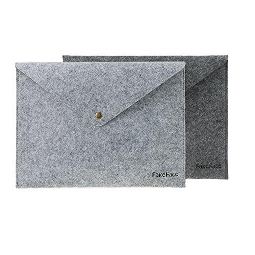 Dokumentenhüllen, Dokumententasche, Retro Filz Konferenzmappe Aktenmappe, Klemmhebelmappe DIN A4 2 Stück