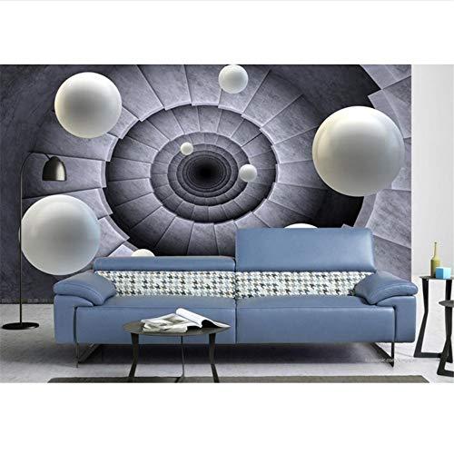 Qqasd tapete für badezimmer benutzerdefinierte papel de parede 3d europeu wallpaper drehen sie die treppe zum ball 3d wallpaper wohnzimmer-340X240CM -