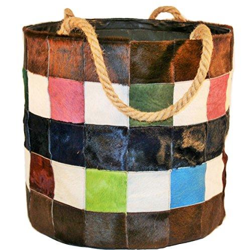 Portalegna-Borsa porta legna portapellet in vera pelle. Lavorazione artigianale 100% italiana