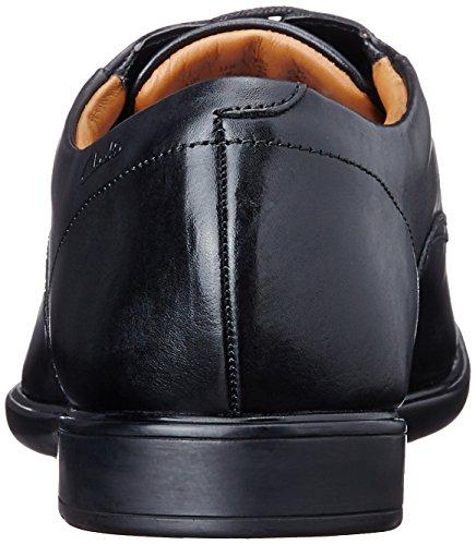 Clarks Gosworth Walk, Derby Homme Noir (Black Leather)