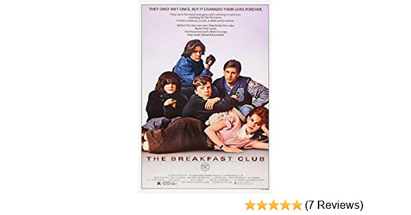THE BREAKFAST CLUB 1985 MOVIE POSTER Film A3 A4 Fan Art Print Home Wall Decorate