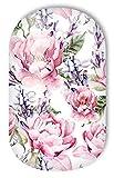 MISS SOPHIE'S Nagelfolie -'Madame Fleury', Blumen Pink-Rosa-Weiß, 20 selbstklebende Nail Wraps