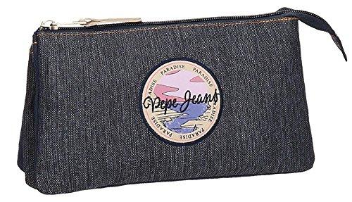 Pepe Jeans Yelena Neceser de Viaje, 22 cm, 1.32 litros, Azul
