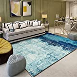 JaYea Blauen Gradienten Teppich im Wohnzimmer Teppich Großen Nationalen Wind Luxurious Weich Schlafzimmerteppich, Billig,LightBlue,200x300cm