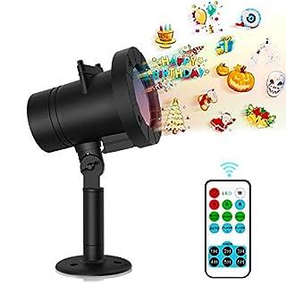 Senden Sie Überraschung Projektor Licht, MEIKEE LED Lichteffekt Dekoration Lichter Wasserdichte Projektionslampe 12 Austauschbaren Muster für Weihnachten Thanksgiving Day Kind Geburtstag Partei