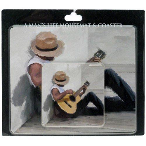 Price comparison product image A Man's Life Guitarist Mousemat & Coaster [LP20393]