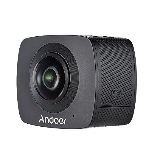 Andoer Doppel-Objektiv 360-Grad-Panorama-Digital-Video-Sport-Action-VR-Kamera 1920 * 960P 30fps HD 8MP mit 220 Grad-Fisch-Augen-Objektiv - 3