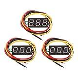 Baoblaze Mini Digital-Amperemeter/Voltmeter LED Display Strom Spannung Tester Rot (3 Stück)