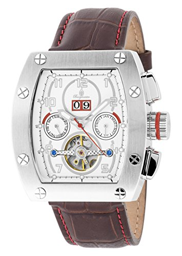 Burgmeister BM358-115 Lucan, Gents automatic watch, Analogue display - Water resistant, Stylish leather strap, Classic men's watch