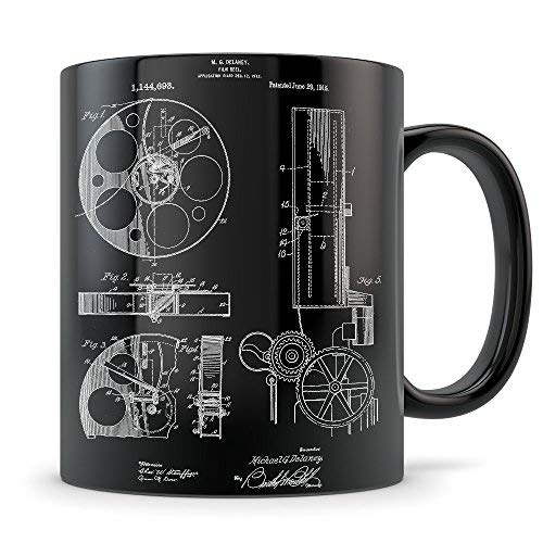 (Movie Director Gifts for Men and Women Directors Mug for Student Graduation or Profession Best Film Gift Idea Cool Motion Picture Projector Patent Cup)