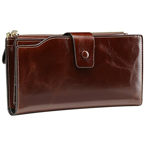 itslife-womens-large-capacity-luxury-wax-genuine-leather-wallet-with-zipper-pocket-card-holder-ladie