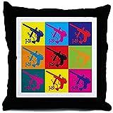 nostalgiaz Paintball Pillow Cover, Pop Art 18x 18inches