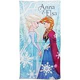 Disney Frozen - Toalla de Playa con diseño de Anna & Elsa para niños - Verano