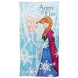 Disney Frozen Mädchen Bade- / Strandtuch, Anna & Elsa (70 x 140 cm) (Türkis)