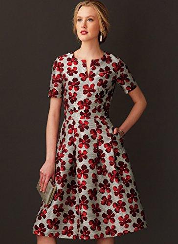 Vogue Mustern Misses Kleid mit Rundum Bund, Mehrfarbig, Größe 6-14 - Bild 6