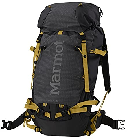 Marmot Eiger 32 Snow Backpack One Size Black Green Wheat